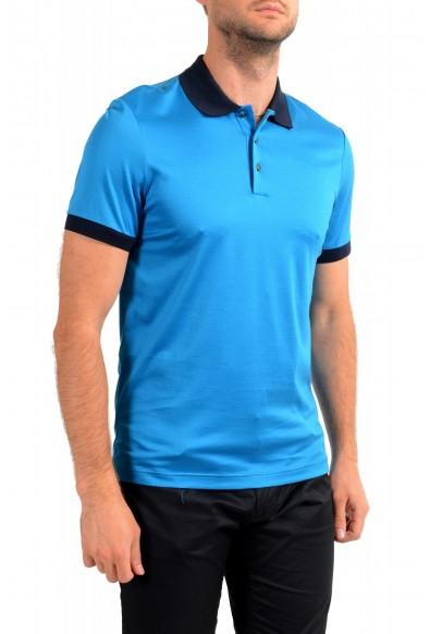"Hugo Boss Men's ""Parlay 115"" Blue Short Sleeve Polo Shirt: Picture 2"