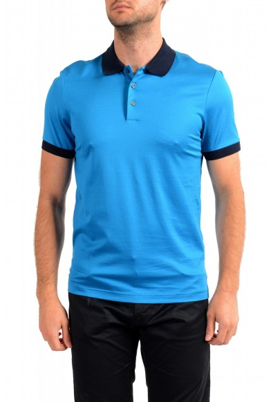 "Hugo Boss Men's ""Parlay 115"" Blue Short Sleeve Polo Shirt"