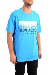 "Hugo Boss Men's ""Trek 4"" Blue Graphic Print Crewneck T-Shirt : Picture 2"