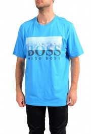 "Hugo Boss Men's ""Trek 4"" Blue Graphic Print Crewneck T-Shirt"