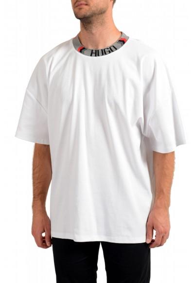 "Hugo Boss Men's ""Dougy_LP1"" White Oversized Crewneck T-Shirt"