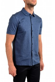 """Hugo Boss Men's """"Powell 08_B"""" Blue Short Sleeve Button Down Shirt : Picture 2"""