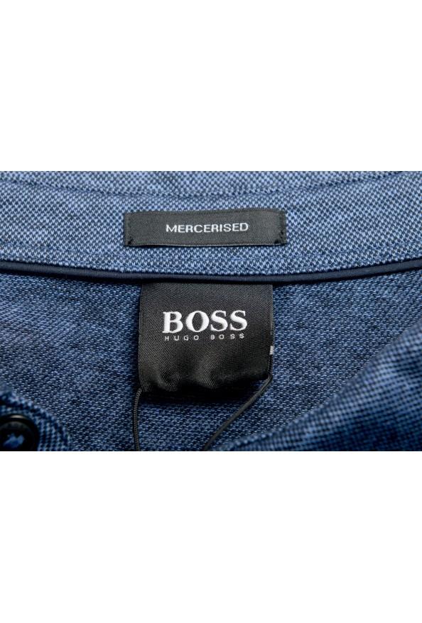 """Hugo Boss Men's """"Powell 08_B"""" Blue Short Sleeve Button Down Shirt : Picture 5"""
