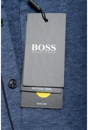 """Hugo Boss Men's """"Powell 08_B"""" Blue Short Sleeve Button Down Shirt : Picture 6"""