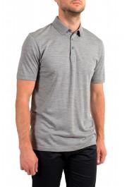 "Hugo Boss Men's ""Press 47"" Gray 100% Wool Short Sleeve Polo Shirt: Picture 2"