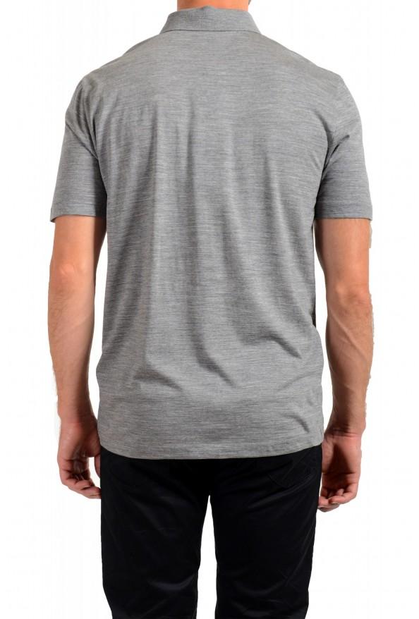 "Hugo Boss Men's ""Press 47"" Gray 100% Wool Short Sleeve Polo Shirt: Picture 3"