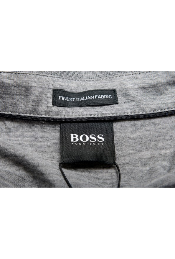 "Hugo Boss Men's ""Press 47"" Gray 100% Wool Short Sleeve Polo Shirt: Picture 5"
