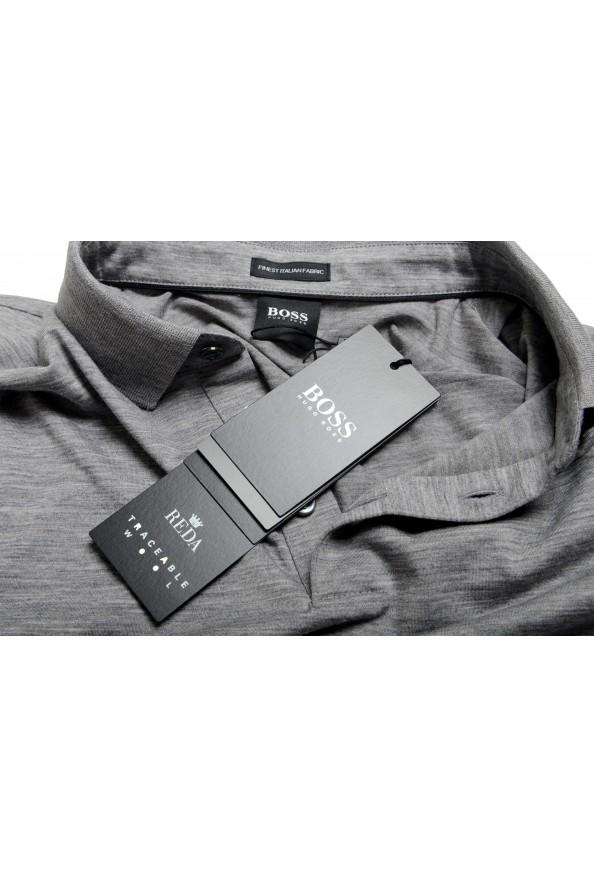 "Hugo Boss Men's ""Press 47"" Gray 100% Wool Short Sleeve Polo Shirt: Picture 7"