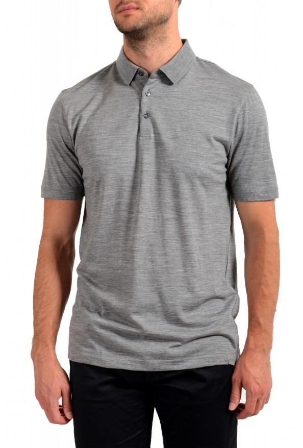 "Hugo Boss Men's ""Press 47"" Gray 100% Wool Short Sleeve Polo Shirt"