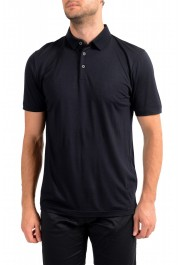 "Hugo Boss Men's ""Press 47"" Black 100% Wool Short Sleeve Polo Shirt"