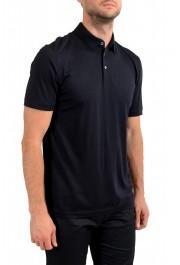 "Hugo Boss Men's ""Press 47"" Black 100% Wool Short Sleeve Polo Shirt : Picture 2"
