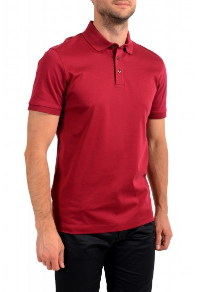 """Hugo Boss Men's """"T-Perry 14"""" Cherry Red Short Sleeve Polo Shirt: Picture 2"""