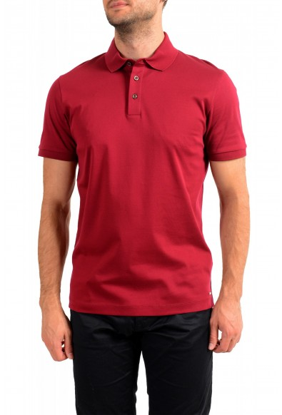 "Hugo Boss Men's ""T-Perry 14"" Cherry Red Short Sleeve Polo Shirt"