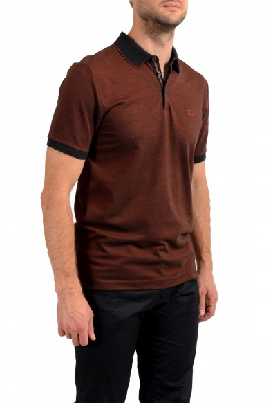 """Hugo Boss Men's """"Prout 28"""" Brown Short Sleeve Polo Shirt: Picture 2"""