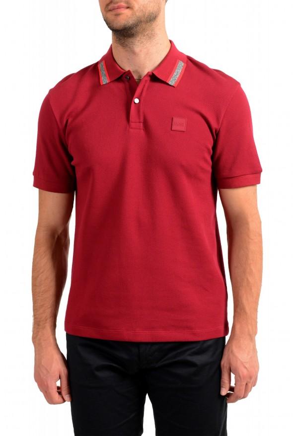"Hugo Boss Men's ""Parlay 99"" Cherry Red Short Sleeve Polo Shirt"
