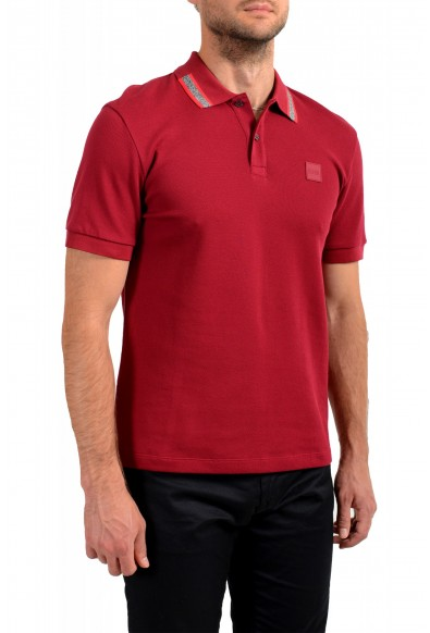 """Hugo Boss Men's """"Parlay 99"""" Cherry Red Short Sleeve Polo Shirt : Picture 2"""