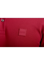 """Hugo Boss Men's """"Parlay 99"""" Cherry Red Short Sleeve Polo Shirt : Picture 4"""