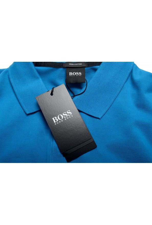 "Hugo Boss Men's ""Pallas"" Blue Short Sleeve Polo Shirt: Picture 7"