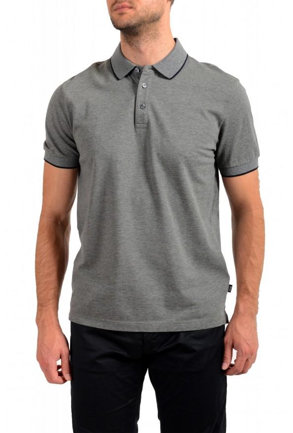 "Hugo Boss Men's ""Prout 26"" Gray Short Sleeve Polo Shirt"