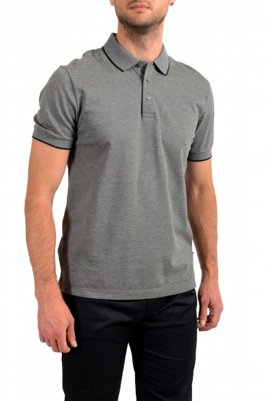 """Hugo Boss Men's """"Prout 26"""" Gray Short Sleeve Polo Shirt: Picture 2"""