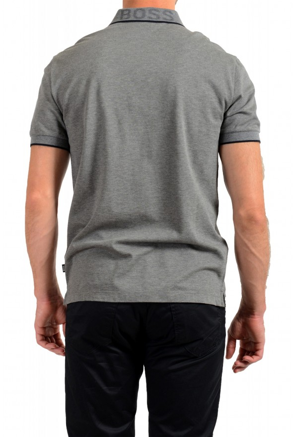 """Hugo Boss Men's """"Prout 26"""" Gray Short Sleeve Polo Shirt: Picture 3"""