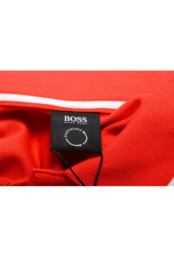 """Hugo Boss Men's """"Parley 116"""" Bright Red Short Sleeve Polo Shirt : Picture 6"""