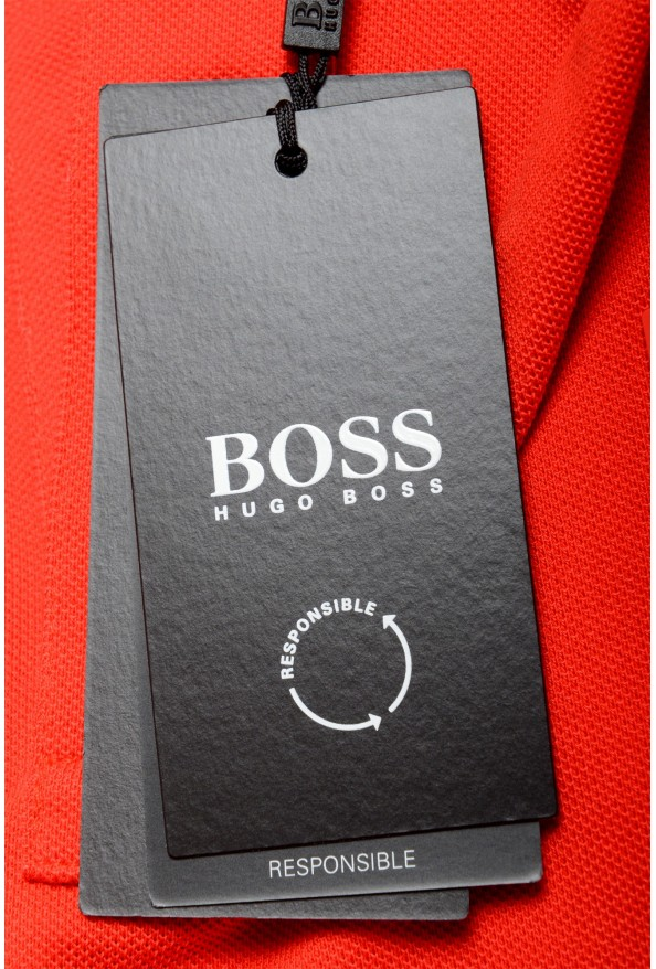 """Hugo Boss Men's """"Parley 116"""" Bright Red Short Sleeve Polo Shirt : Picture 7"""