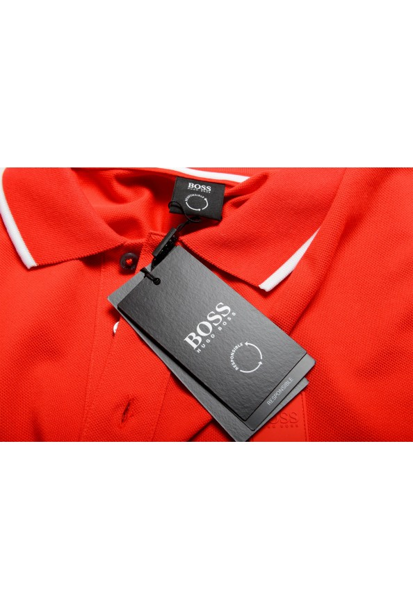 """Hugo Boss Men's """"Parley 116"""" Bright Red Short Sleeve Polo Shirt : Picture 8"""