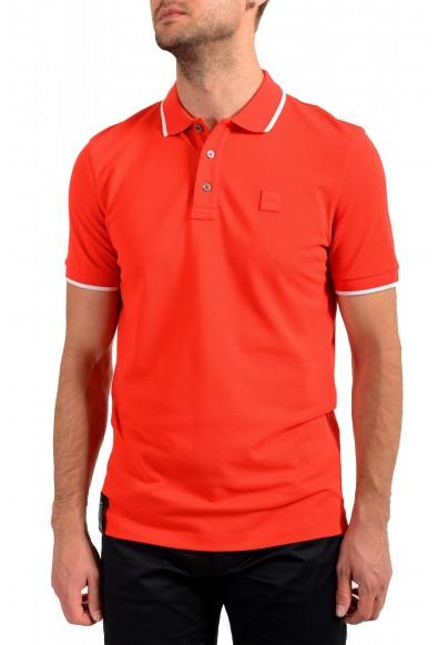"Hugo Boss Men's ""Parley 116"" Bright Red Short Sleeve Polo Shirt"