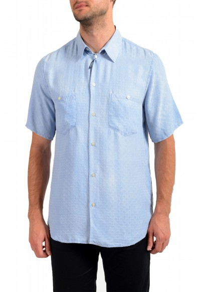 Dolce& Gabbana D&G Men's 100%Silk Short Sleeve Button Down Shirt