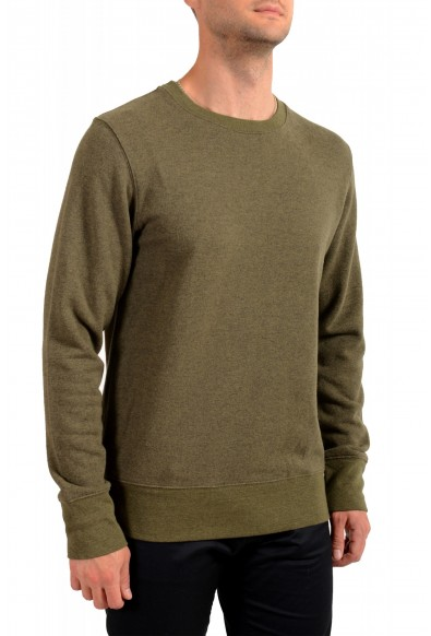 Moncler Men's Olive Green Wool Crewneck Sweatshirt : Picture 2