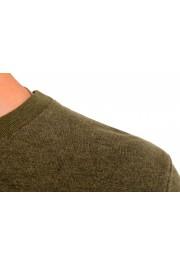 Moncler Men's Olive Green Wool Crewneck Sweatshirt : Picture 4