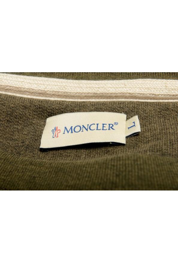 Moncler Men's Olive Green Wool Crewneck Sweatshirt : Picture 5