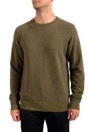 Moncler Men's Olive Green Wool Crewneck Sweatshirt