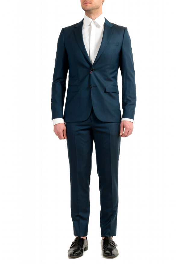 "Hugo Boss Men's ""Astian/Hets184"" Green Extra Slim Fit Silk Wool Two Button Suit"