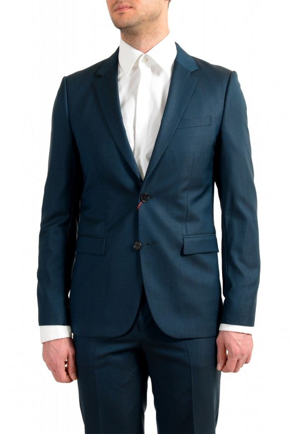 """Hugo Boss Men's """"Astian/Hets184"""" Green Extra Slim Fit Silk Wool Two Button Suit: Picture 4"""