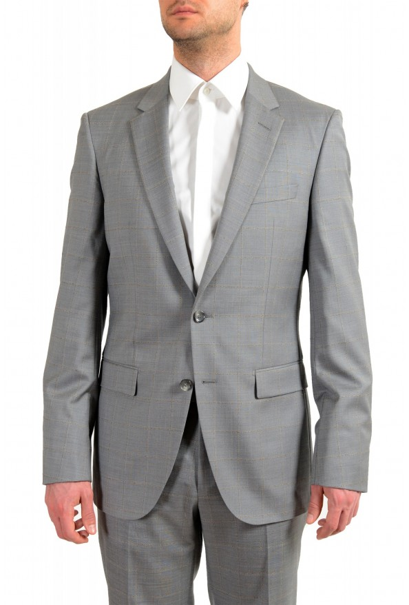 """Hugo Boss Men's """"T-Harvers4/Glover3"""" Slim Fit Silk Wool Plaid Two Button Suit: Picture 4"""