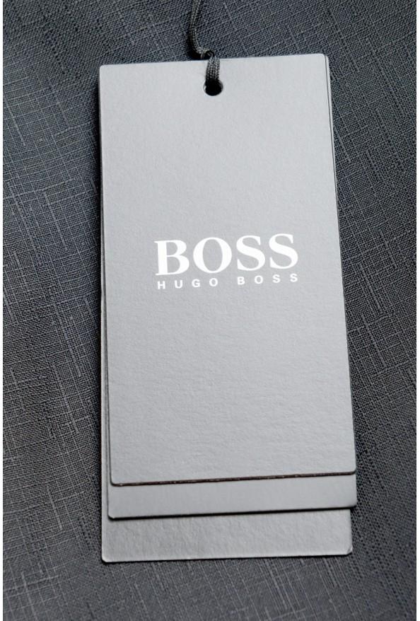 "Hugo Boss Men's ""Henry1/Glow1"" Slim Fit 100% Wool Black Tuxedo Suit: Picture 11"