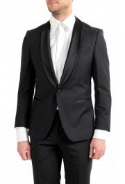 "Hugo Boss Men's ""Henry1/Glow1"" Slim Fit 100% Wool Black Tuxedo Suit: Picture 4"