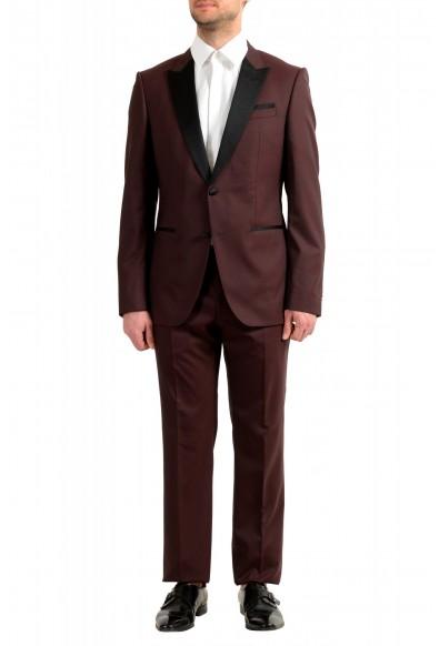 "Hugo Boss Men's ""Helward1/Gelvin_1"" Slim Fit 100% Wool Purple Tuxedo Suit"