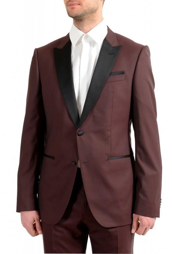 "Hugo Boss Men's ""Helward1/Gelvin_1"" Slim Fit 100% Wool Purple Tuxedo Suit: Picture 4"