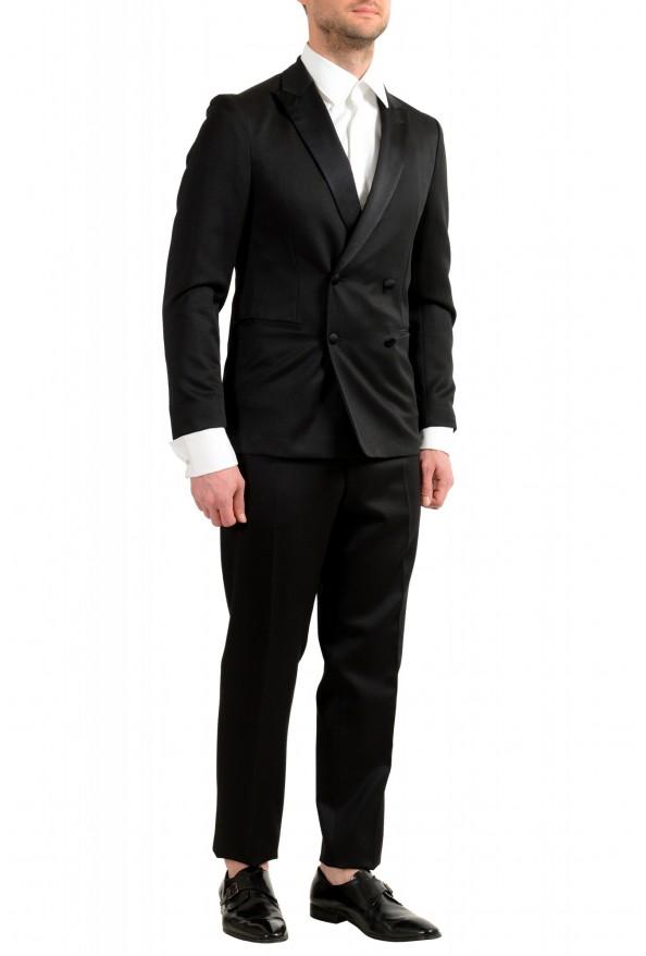 "Hugo Boss Men's ""Nielsen/Oliwer_1"" Black 100% Wool Double Breasted Tuxedo Suit: Picture 2"