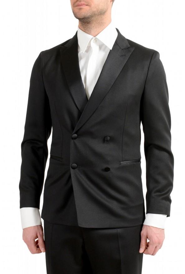 "Hugo Boss Men's ""Nielsen/Oliwer_1"" Black 100% Wool Double Breasted Tuxedo Suit: Picture 4"