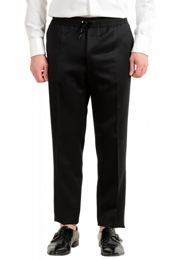 "Hugo Boss Men's ""Nielsen/Oliwer_1"" Black 100% Wool Double Breasted Tuxedo Suit: Picture 8"