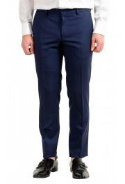 "Hugo Boss Men's ""Novan5/Ben2"" Slim Fit 100% Wool Blue Two Button Suit: Picture 8"