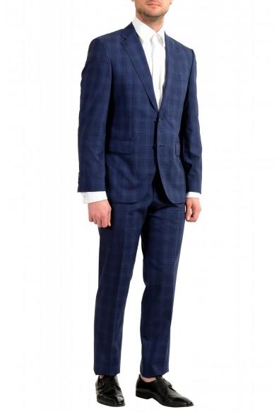 Hugo Boss Men's Jeckson/Lenon1 Regular Fit 100% Wool Blue Plaid Two Button Suit: Picture 2