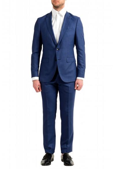 "Hugo Boss Men's ""Novan5/Ben2"" Slim Fit 100% Wool Blue Two Button Suit"