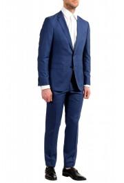 "Hugo Boss Men's ""Novan5/Ben2"" Slim Fit 100% Wool Blue Two Button Suit: Picture 5"