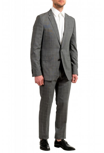 """Hugo Boss Men's """"Novan5/Ben2"""" Gray Slim Fit 100% Wool Plaid Two Button Suit: Picture 2"""