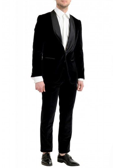 "Hugo Boss Men's ""Henrey1/Glow1"" Slim Fit Black Velour Tuxedo Suit: Picture 2"